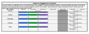 Seahorse Engagment Schedule