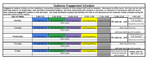 Seahorse Engagement Schedule - updated 4-6-2020